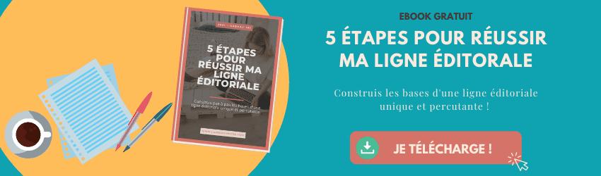 5 étapes pour réussir ma ligne éditoriale workbook gratuit à télécharger